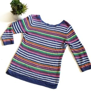 Talbots Multicolor Striped Shirt